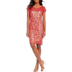 Red Sequin Seni-Formal Dress